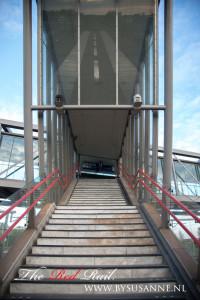 met reflectie van trein